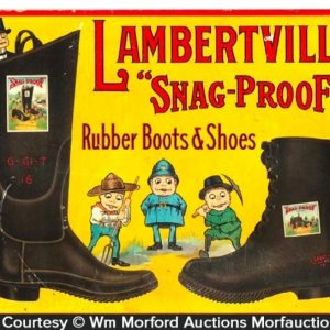 Lambertville Snag-Proof Boots Sign