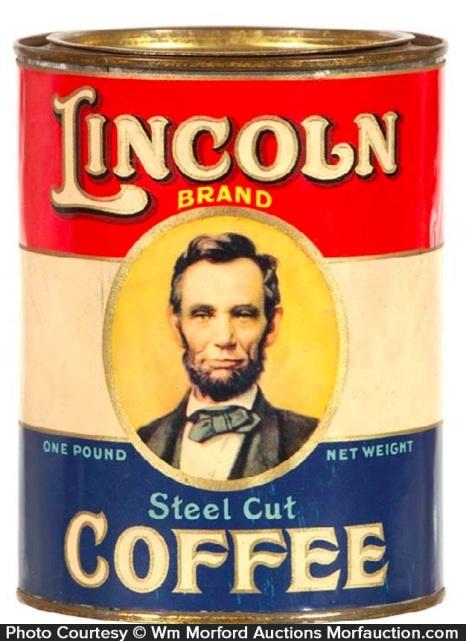 Lincoln Coffee Tin