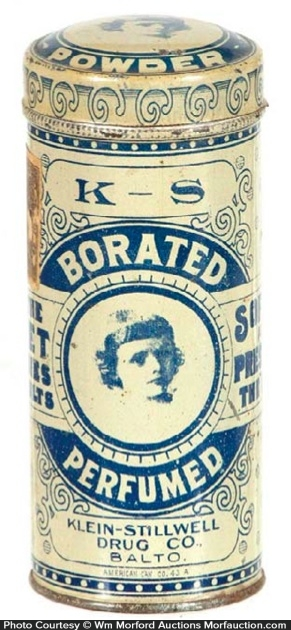 K-S Talcum Powder Tin