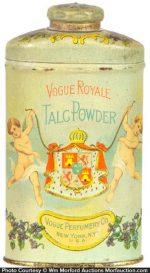 Vogue Royale Talc Tin
