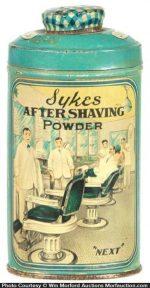 Sykes Shaving Powder Tin