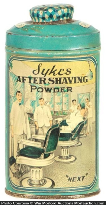 Sykes Shaving Powder Tin