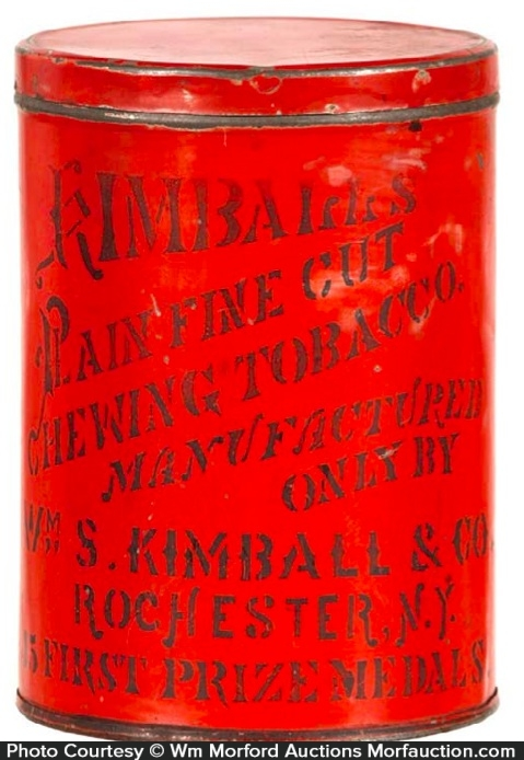 Kimball's Chewing Tobacco Tin