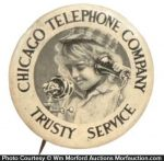 Chicago Telephone Pinback