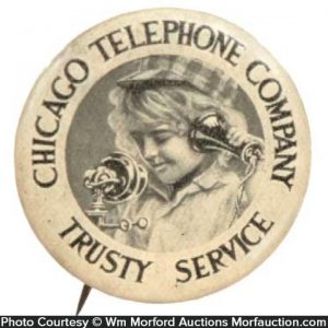 Chicago Telephone Pinback
