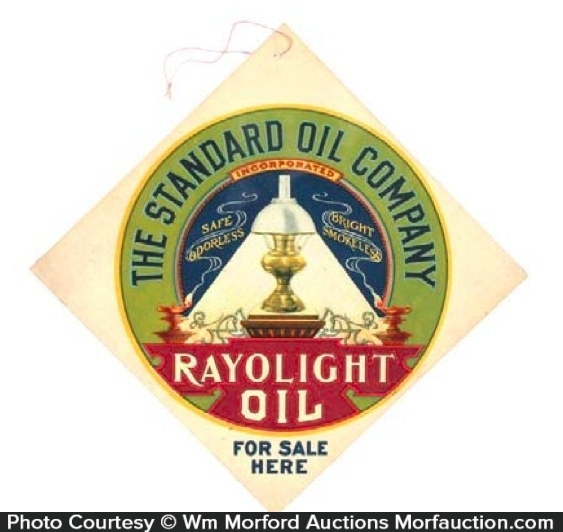 Standard Rayolight Oil Sign