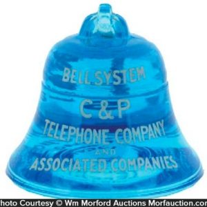 C&P Telephone Bell Paperweight
