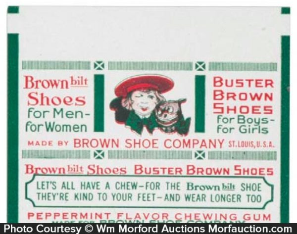 Buster Brown Shoes Gum Wrappers