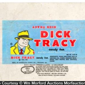 Dick Tracy Candy Wrapper