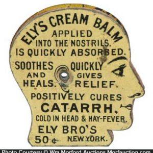 Ely's Cream Catarrh Balm Pin Holder