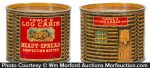Log Cabin Confection Butter Tin