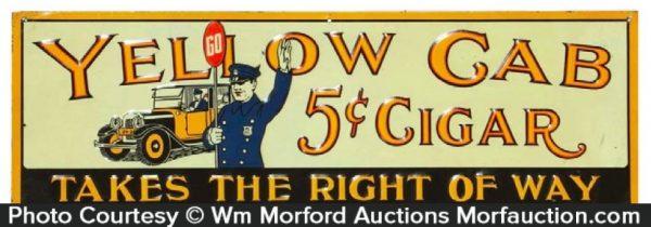Yellow Cab Cigars Sign