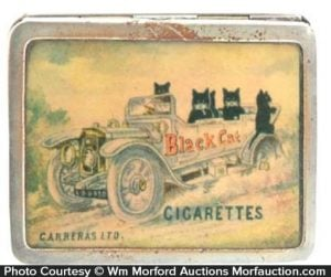 Black Cat Cigarettes Match Safe
