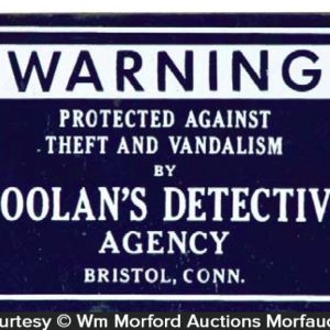 Doolan's Detective Agency Sign