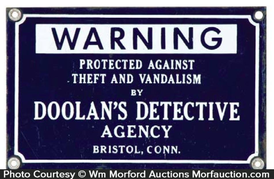 Doolan's Detective Agency Sign