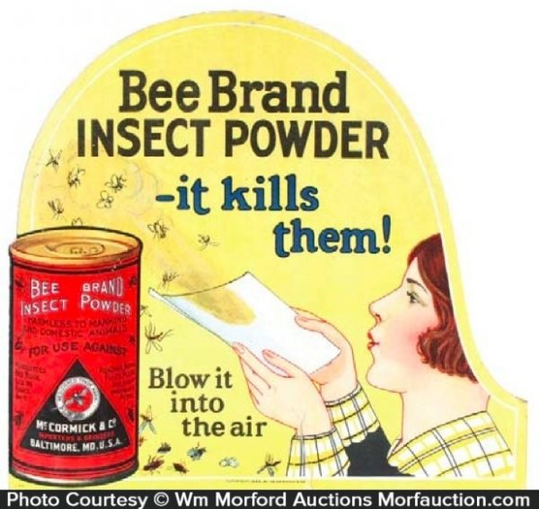 Bee Brand Insect Powder Sign