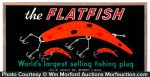Flatfish Fishing Plug Sign