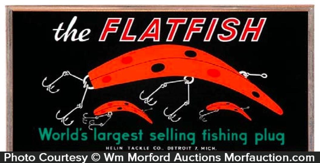 Flatfish Fishing Plug Sign