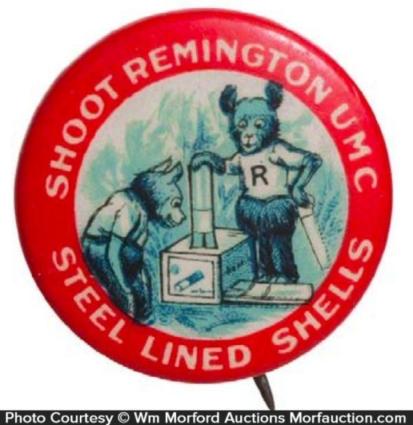 Remington Umc Shells Pinback