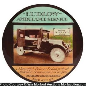 Ludlow Ambulance Paperweight Mirror