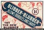 Blibber-Blubber Gum Label