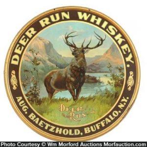 Deer Run Whiskey Sign
