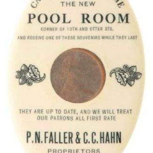 Pool Room Penny Mirror