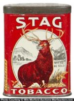 Stag Tobacco Sample Tin