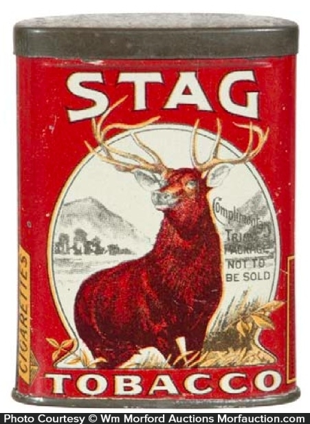 Stag Tobacco Sample Tin