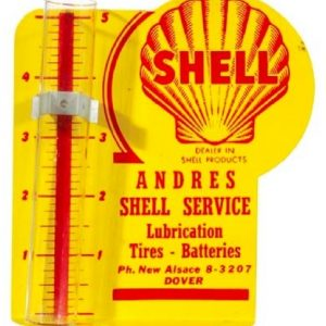 Shell Oil Rain Gauge