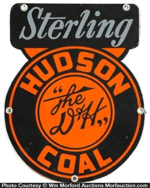 Sterling Hudson D & H Coal Sign