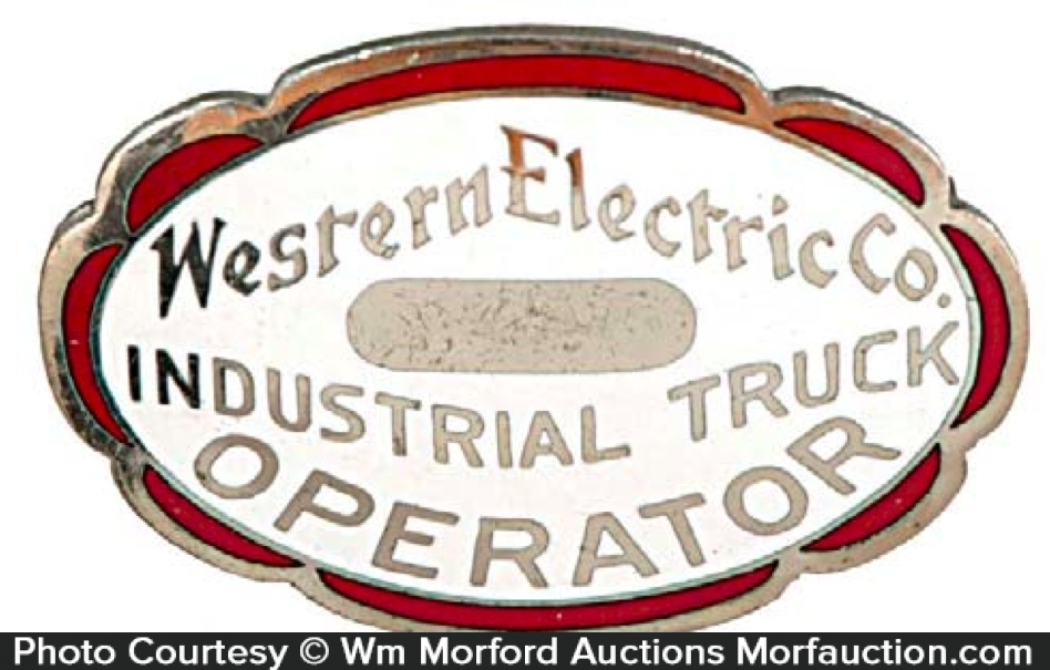 Western Electric Operator Badge