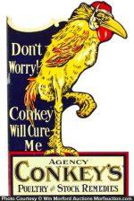 Conkey's Remedies Vet Sign