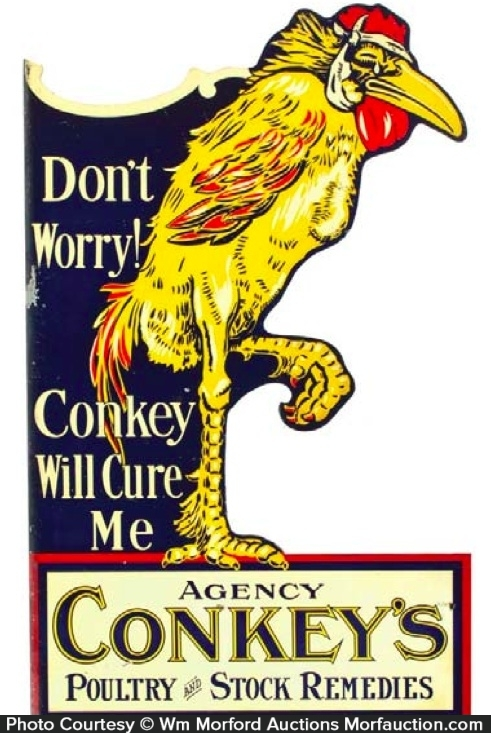 Conkey's Remedies Vet Sign