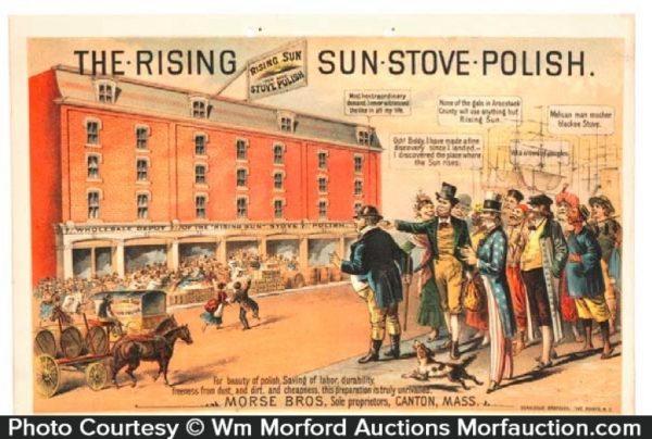Rising Sun Stove Polish Sign