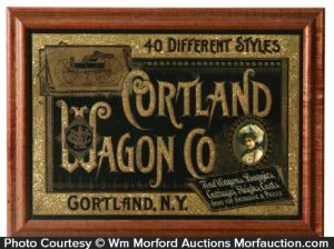 Cortland Wagon Sign