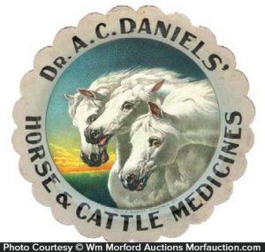 Dr. Daniels' Horse Medicines Tray