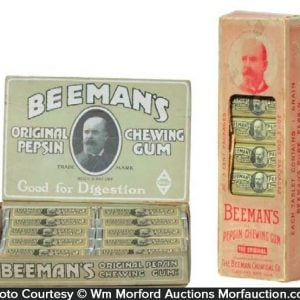Beeman's Pepsin Gum Display