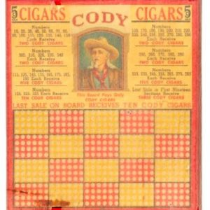 Cody Cigars Punchboard