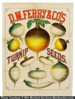 Ferry Turnip Seeds Sign