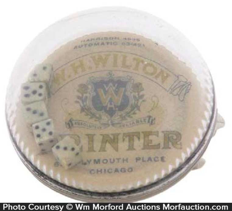 Wilton Printers Dice Paperweight