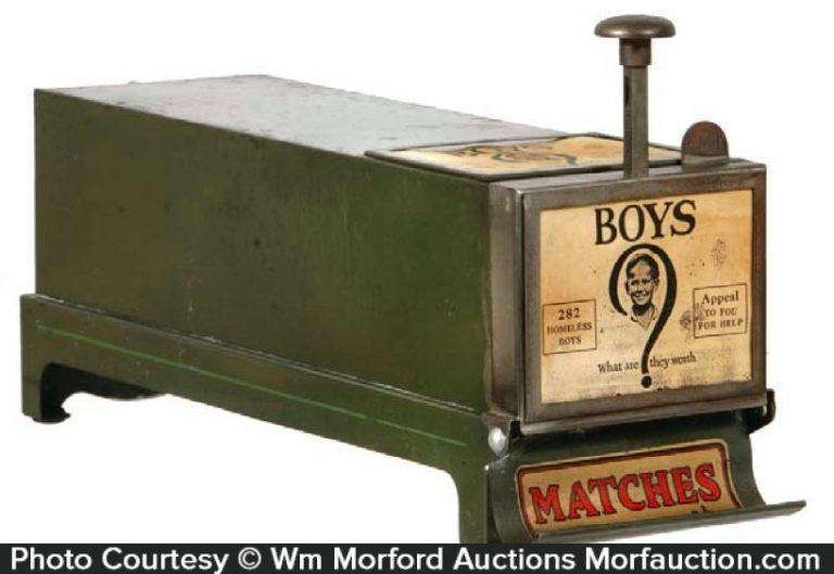 Vintage Match Vending Machine