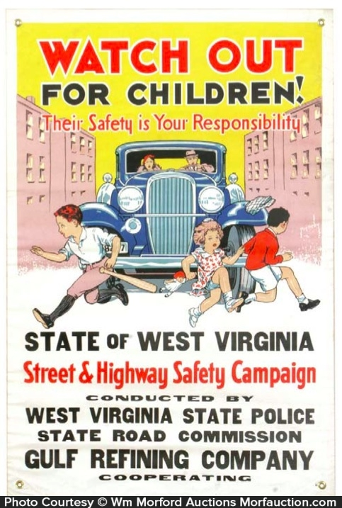 Standard Oil Co. Safety Banner