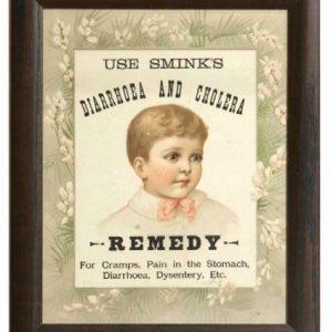 Smink's Diarrhoea and Cholera Remedy Sign