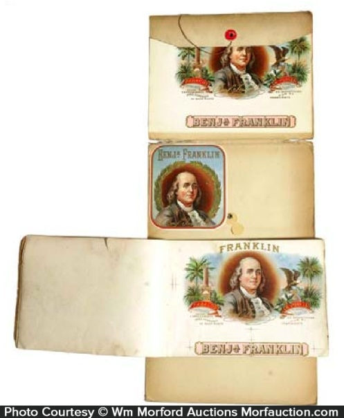 Ben Franklin Cigar Label Proofs