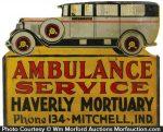 Folk Art Ambulance Sign