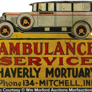 Folk Art Ambulance Sign