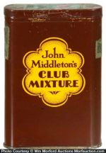 John Middleton's Club Mixture Tobacco Tin