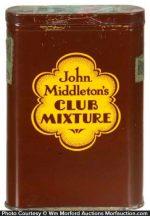 John Middleton's Club Mixture Tobacco Tin