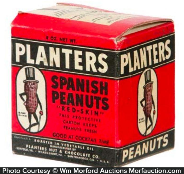 Planters Spanish Peanuts Box